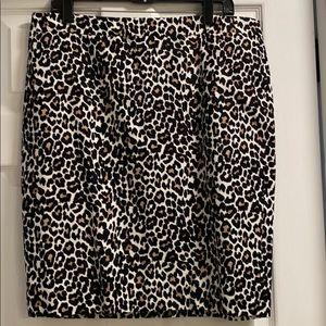 J. Crew Factory Pencil Skirt in Leopard